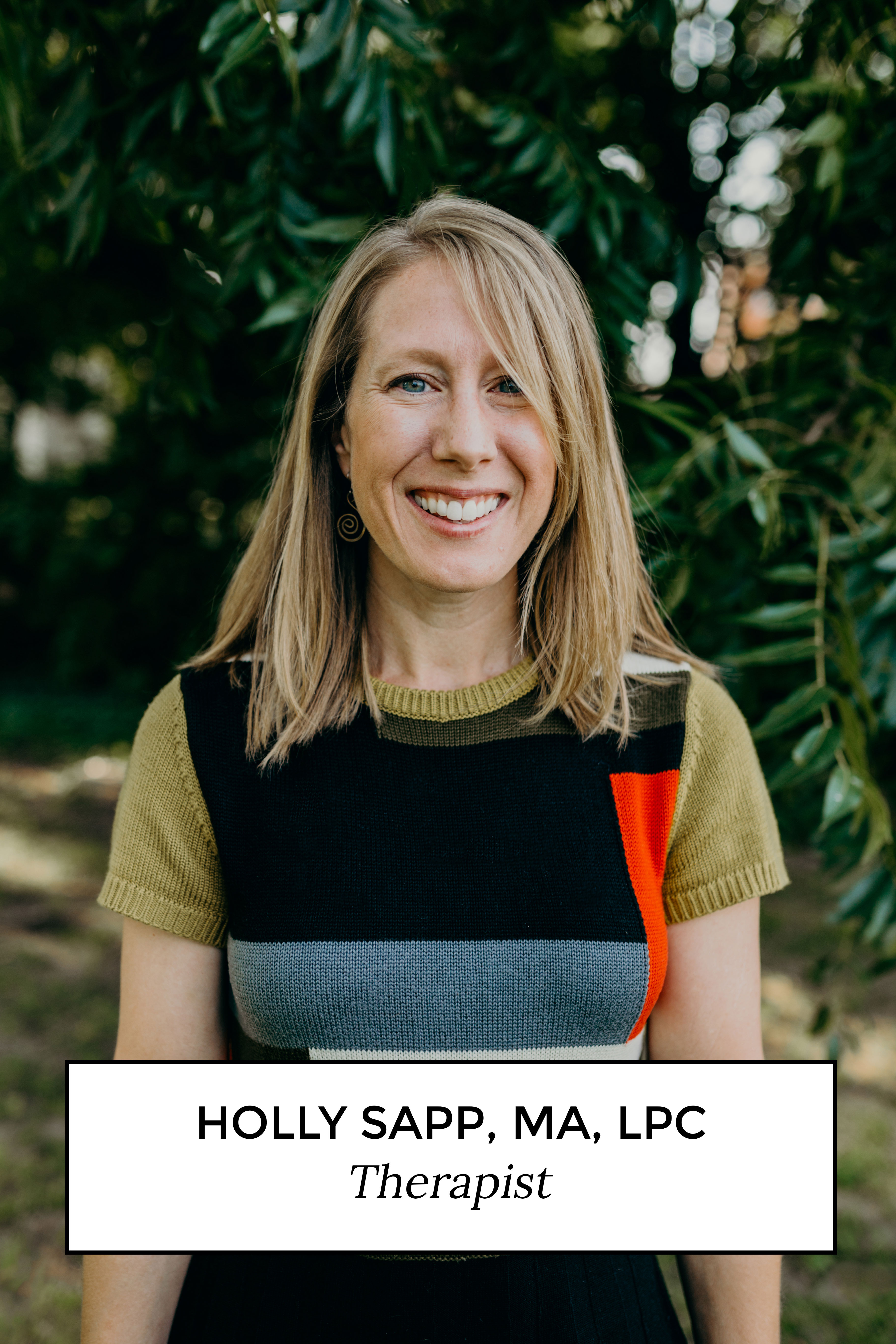 Holly Sapp, MA, LPC Therapist