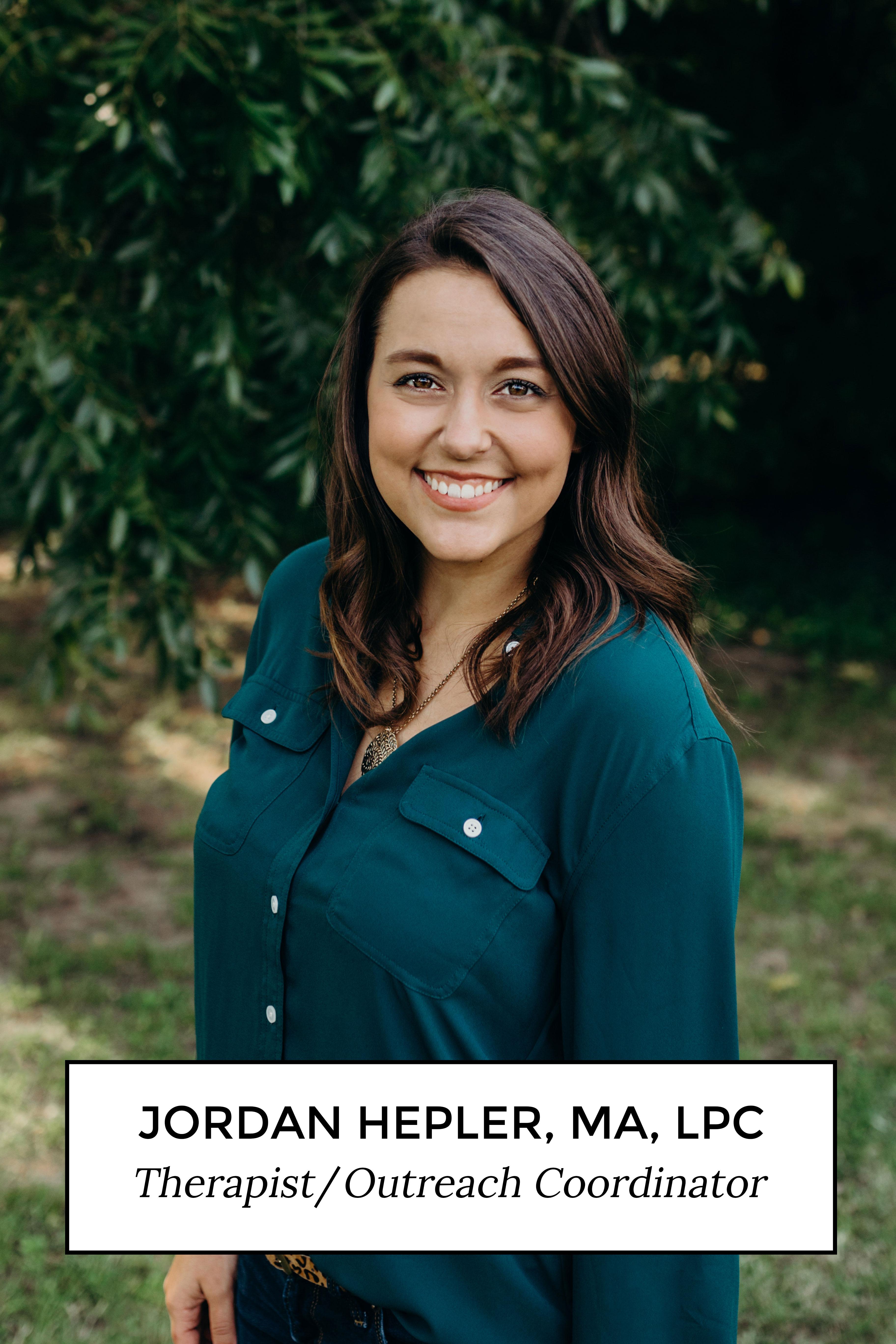 Jordan Hepler, MA, LPC Therapist Coordinator
